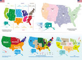 Vector maps of United States — Stock Vector