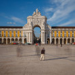 Commerce Square in downtown Lisbon (Portugal), close to the Tagu — Stock Photo #62668563