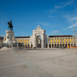 Commerce Square in downtown Lisbon (Portugal), close to the Tagu — Stock Photo #63936633