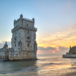 Lisbon, Portugal, Europe - view of the belem tower at sunset (na — Stock Photo #63936971