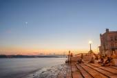 Portugal, Europe - The Columns Wharf Viewpoint at commerce squar — Stock Photo