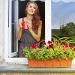 Woman in a rose garden - стоковое фото apid #66597535.