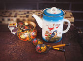 Russian traditional pottery — Stock Photo