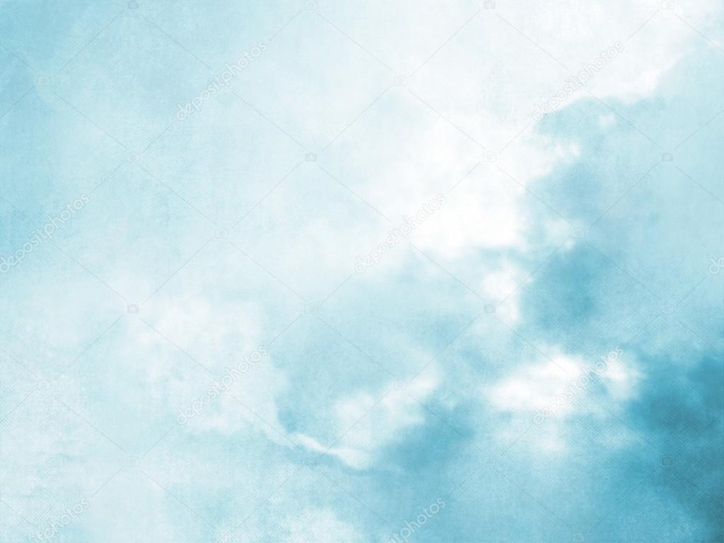 fondo cielo borrosa acuarela azul suave � foto de stock