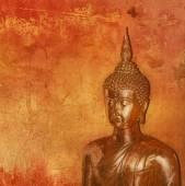 Buddha su sfondo grunge — Foto Stock