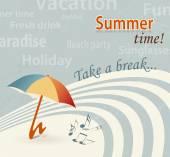Retro summer background - summertime - take a break — Stock Vector