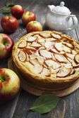 Tarta de manzana. charlotte — Foto de Stock