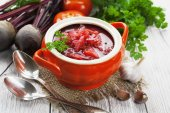 Borsh. Russian traditional dish — Stock Photo