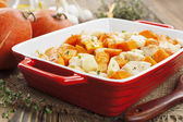 Chicken baked with pumpkin — Stock Photo