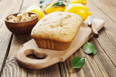 Homemade lemon cake  — Stock Photo
