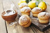 Homemade lemon muffins — Stock Photo