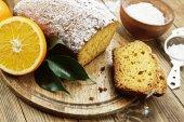 Homemade orange cake — Stock Photo