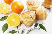 Homemade orange muffins — Stock Photo