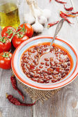 Soup with red bean — Stock Photo
