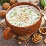 Tarator, bulgarian sour milk soup — Stock Photo #70177203
