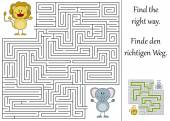 Find the right way through the maze — Stock Vector