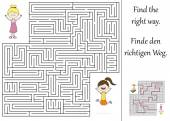 Find the right way through the maze — Stockvektor