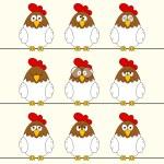 Funny cocks — Stock Vector #64651027