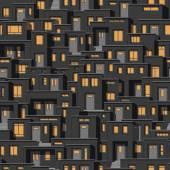 Continue achtergrond van moderne huizen bij nacht — Stockvector