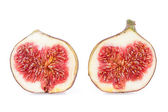 Two Halves of a Figs Fruits — Stock Photo