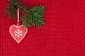 圣诞节背景羊毛针织物复古装饰 — 图库照片