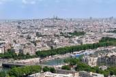 панорамный вид парижа от eiffeltower, франция — Стоковое фото