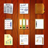 Kağıt simgeler — Stok Vektör
