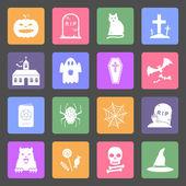 Halloween flat design icons — Stock Vector