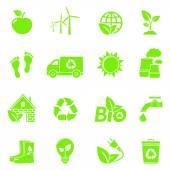 Iconos de ecología — Vector de stock