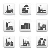 Industrial buildings, power plants and factories — Stock Vector