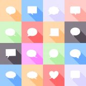 значки речи пузыри — Cтоковый вектор