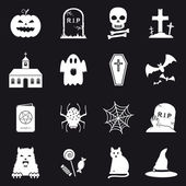 16 Halloween icons — Stock Vector