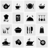 Set of kitchen tools silhouettes — Stock Vector