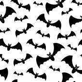 Naadloze patroon met vleermuizen — Stockvector
