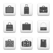 バッグやスーツケースのアイコン — ストックベクタ