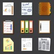 Paper and documents icons — Vetor de Stock  #60174043