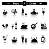 Food & drink icons — Stock Vector