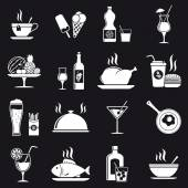 Food and Beverage icons — Stock Vector