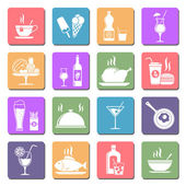 Food & drink flat icons — Stock Vector