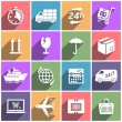 Flat icons set shipping and delivery — Stock Vector #65403643