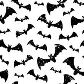 Vector seamless pattern with bats — Stock Vector