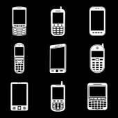 Telefon komórkowy zestaw ikon — Wektor stockowy