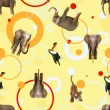 Seamless pattern with cute animals — Stock Photo #66101427