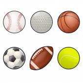 Ball icons — Stock Vector