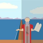 Icône de Moses et mer 2 — Vecteur