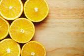 Halves of oranges background — Stock Photo