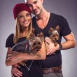 Couple with dogs — Stock Photo #54524135