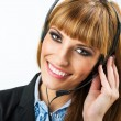 Attractive woman with headphone — Stock Photo #64598335