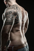 Muscular man from the back — Stock Photo