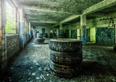 Ruined factory building — Stock Photo